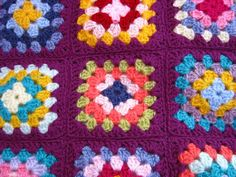 Bunny Mummy: Sewing Granny Squares Together (whip stitch method)