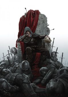 "King of Thorns by Jason Chan  ""Cover image for Mark Lawrence's King of Thorns, sequel to Prince of Thorns."""