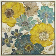 Pier 1 Imports Gilded Flowers Art