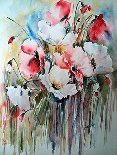 flores en acuarelas - Buscar con Google