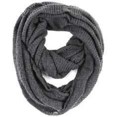 Paula Bianco Frayed Infinity Scarf in Charcoal ($75) ❤ liked on Polyvore featuring accessories, scarves, sciarpe, bufandas, accessories scarves & wraps, charcoal, paula bianco, striped infinity scarves, striped scarves y circle scarves