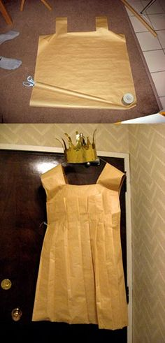 paper bag princess costume / Use for character dress up week & I have the book! paper bag princess costume / Use for character dress up week & I have the book! paper bag princess costume / Use for character Book Costumes, World Book Day Costumes, Teacher Costumes, Book Week Costume, Costume Ideas, Bookweek Costumes For Teachers, Clever Costumes, Book Characters Dress Up, Character Dress Up