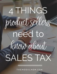 Sales tax for product sellers - everything you need to know