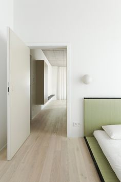 Polish office Thisispaper Studio has branched out into hospitality, with the opening of a minimalist holiday apartment in Warsaw's historical Praga district.