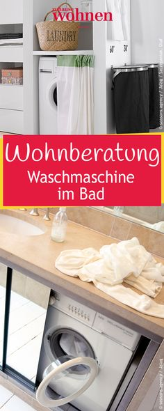 Sie Zählt Wohl Nicht Gerade Zu Den Schönsten Einrichtungsgegenständen Im  Bad: Die Waschmaschine. Wie