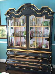 vintage dorothy draper viennese collection bombe china cabinet on