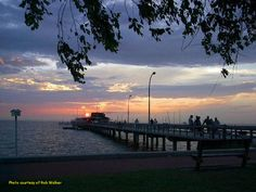 The waterfront in Fairhope, Alabama - The pier-LOVED walking out there at night! Been too many times to count.