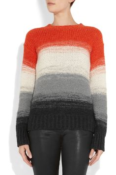 Joseph - Striped alpaca and mohair-blend sweater