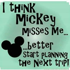 New Year, New Disney trip to plan. And I better do it fast, because the longer I wait, the more Mickey will miss me😂. Are you guys planning a a Disney trip anytime soon? Disney Nerd, Disney Fanatic, Disney Addict, Disney Memes, Disney Quotes, Disney Love, Disney Magic, Disney Shirts, Walt Disney World