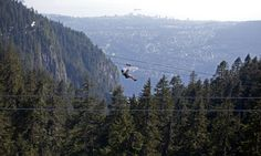 The view is absolutely breathtaking at Grouse Mountain, Vancouver, BC.