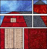 Paper piecing - Barn