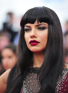 Pin for Later: 16 Sexy Pouts That'll Make You Forget About Kylie Jenner's Lips Adriana Lima The Victoria's Secret model (and mom) is the definition of a sexy siren. Her 2015 Met Gala look focused on her full lips and smoldering eyes.
