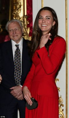 The Duchess was also introduced to many of the 250 stars present on a night celebrating the Queen's 60 years as patron of the Royal Academy of Dramatic Art