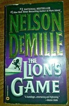 The Lion's Game by Nelson DeMille 2000 paperback book