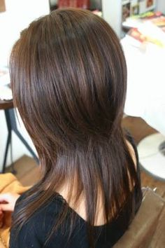 Image result for 段カット ロング ストレート