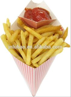 D180 Cone Shaped Food Packaging Wholesale Customized Printing Fast Food Paper Cone&holder For Fries&snack , Find…