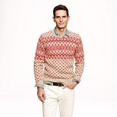Nordic diamond sweater - pattern - Men's sweaters - J.Crew