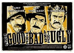 The Good, the Bad and the Ugly (Italian: Il buono, il brutto, il cattivo) is a 1966 Italian epic spaghetti western film directed by Sergio Leone, narrated by Marcello Mastroianni and starring Clint Eastwood, Lee Van Cleef, Franco Nero and Eli Wallach in the title roles. Director of photography Tonino Delli Colli was responsible for the film's sweeping widescreen cinematography and Ennio Morricone composed the famous film score, including its main theme. It is the third film in the Dollars…