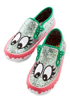 Nothin' but Personality Flat. If youre anything like us, you need some character in your kicks. #multi #modcloth