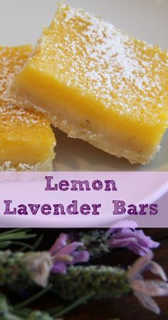 Sure, you've had lemon bars but what about lemon LAVENDER bars? Delicious lemon bars with a subtle hint of lavender. You can't go wrong. Real Food Recipes, Dessert Recipes, Cooking Recipes, Yummy Food, Culinary Lavender, Lavender Recipes, Lemon Bars, Just Desserts, Love Food