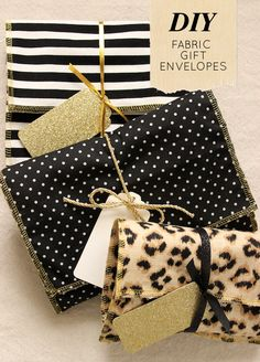 Gorgeous DIY fabric gift envelopes