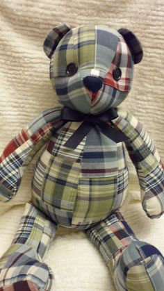 Handcrafted Patchwork Bear by Littlebbears on Etsy
