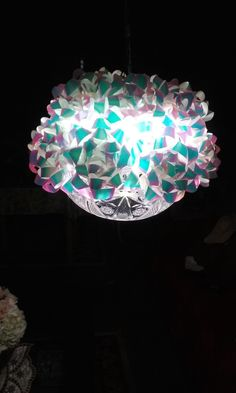 Up-Cycled pendant light. M.Dirro
