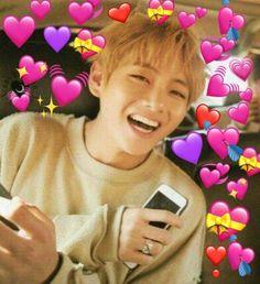 Meme Pictures, Reaction Pictures, Bts Emoji, Park Jimim, Bts Face, Bts Texts, Heart Meme, Bts Meme Faces, Cute Love Memes