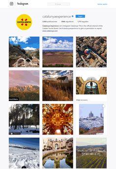 Catalunya Experience perfil Instagram. Instagram como herramienta de promoción para los destinos turísticos.