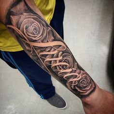 "Street City Tattoos — ""Lucia"" behind some roses Got to do this ..."