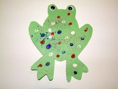 Speckled Paint Frog Crafts For Kids Preschool Projects, Daycare Crafts, Classroom Crafts, Preschool Crafts, Daycare Ideas, Pond Crafts, Frog Crafts, Toddler Art, Toddler Crafts
