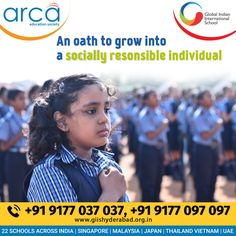 A socially responsible Global Indian's. Holistic Education, Science Week, Leadership Qualities, Global Citizen, Republic Day, School Building, International School, Positive Attitude, School Fun