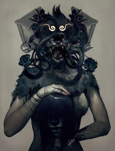 lion-headed woman