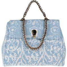ERMANNO SCERVINO Large fabric bag ($815) ❤ liked on Polyvore featuring bags, handbags, shoulder bags, purses, accessories, bolsas, jacquard handbags, blue handbags, blue shoulder handbags and blue shoulder bag