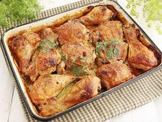 Amazing baked chicken satay — Starts at 60 Pollo Chicken, Chicken Satay, Roasted Chicken Thighs, Oven Roasted Chicken, Chicken Thigh Recipes, Baked Chicken Recipes, Recipe Chicken, Easy Cooking, Cooking Recipes