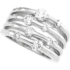 DIAMOND RIGHT HAND RING WHITE GOLD 1.20 CARATS!