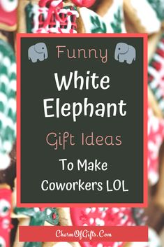 This gift guide is full of funny white elephant gifts that will get all the attention at work. Be it secret santa or a funny occasion at work these gifts are just perfect! The list includes affordable gift ideas that don't look cheap or silly Funny Office Gifts, Office Christmas Gifts, Christmas Gift Exchange, Inexpensive Christmas Gifts, Thoughtful Christmas Gifts, Funny Christmas Gifts, Gifts For Office, Coworker Christmas Gifts, Funny Cheap Gifts