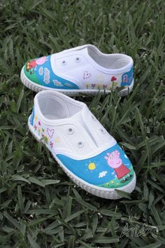"#Zapatillas ""Peppa Pig""   /   Customized Shoes ""Peppa Pig"""
