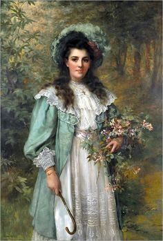 View Honeysuckle by William Clarke Wontner on artnet. Browse upcoming and past auction lots by William Clarke Wontner. Pub Vintage, Vintage Art, Vintage Ladies, Victorian Art, Victorian Women, Paintings I Love, Beautiful Paintings, Molduras Vintage, Illustration Mode