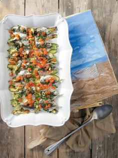 search - www. Vegetable Pizza, Seafood, Fish, Vegetables, Recipes, Greek, Sea Food, Veggies, Greek Language