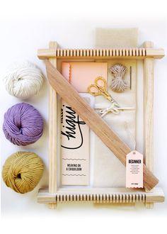 ChiquiLoom Beginner Frame Loom Weaving Kit by HelloChiqui on Etsy//winter