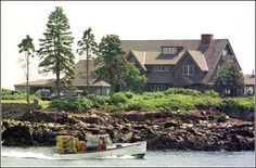 Kennepunkport ME -  We went strolling through town & drove past the Bush Family  Compound.