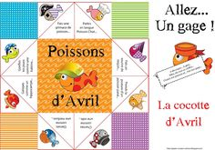 cocotte russe poisson d'avril Plus French Language Lessons, French Language Learning, French Lessons, Diy For Kids, Crafts For Kids, Core French, French Classroom, French Resources, Teaching French