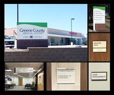 Entry: Best Design-Build Solution. Greene County Medical Center. ASI Iowa. Greene County reached out to ASI to design and implement a complete new interior, exterior and donor recognition signage and brand system. The exterior signage– boldly displaying the new logo. The interior sign system needed to be modular. Front-of-house signage features a wood laminate backer and decorative accent strip to tie in the branding color. An Infinity chassis provides the desired flexibility for future…