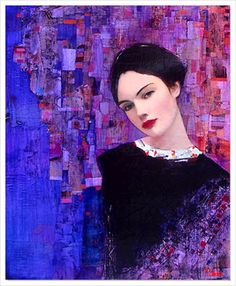 Female portrait, oil painting by French artist Richard Burlet. Burlet was born in France in He is influenced by Austrian symbolist painter Gustav Klimt and Art Nouveau. paintings by Burlet have classic psychedelic nature typical for art and design Gustav Klimt, Klimt Art, Richard Burlet, L'art Du Portrait, Female Portrait, Kunst Online, Art And Illustration, Figure Painting, Figurative Art