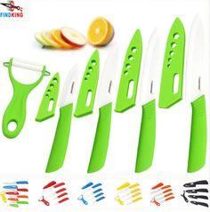 "Knife set Ceramic Knife Set 3"" 4"" 5"" 6"" inch+peeler+Covers+Free shipping"
