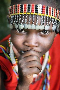 Africa |  Portrait of a Masai Boy. Kenya | © David Lazar