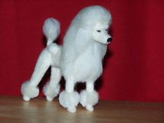 Poodle needle felted dog custom made to order by foxfirespark, $85.00