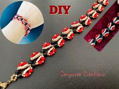Beaded Bracelets Tutorial, Diy Bracelets Easy, Seed Bead Bracelets, Handmade Bracelets, Seed Beads, Jewelry Bracelets, Handmade Jewelry, Beaded Jewelry Patterns, Bead Crochet Patterns
