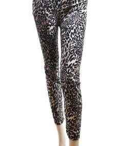 'Sexy Legs' Khaki Leopard Print Fashion Leggings, Small boxed-gifts. $4.99